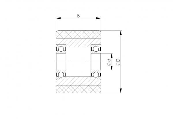 ROLLE ACLATHAN-N 90A; AL; D.120/12X29 MM; 2X6201-2RS/SKF;DIST.-BU.