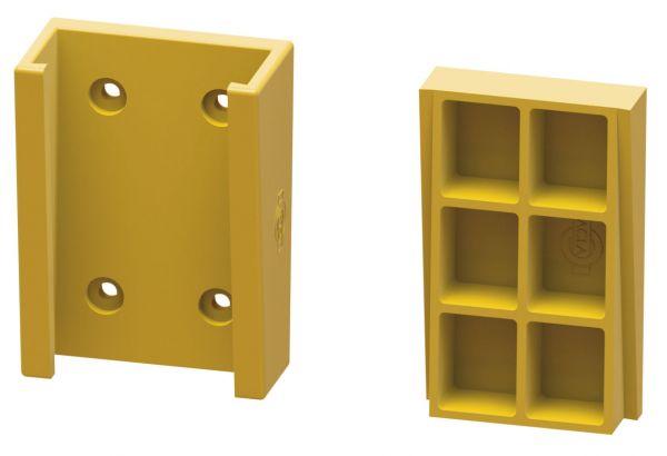 ACLA Flachkabel-Aufhängung aus ACLAMID®, für 1-3 Flachkabel, max. Kabelgröße 75x18 mm